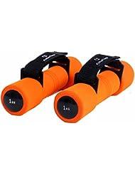 Aerobic Hanteln »Liona« / Fitnesshanteln / Gewichte mit verstellbarer Handschlaufe in 4 Gewichtsabstufungen (0,5kg 1kg 1,5kg & 2kg) mit extra weicher Oberfläche
