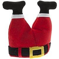 La novedad de la Navidad del sombrero de Santa - Piernas Padre Navidad atascado en la chimenea