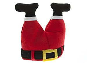 Novelty Christmas Santa Hat - Father Christmas Legs Stuck in Chimney