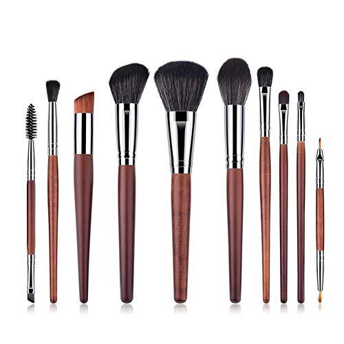 Lot de 10 Set Outils Pinceaux Maquillage Pinceaux pour le Yeux Ombre à Paupières Sourcils Shader Concealer Cosmetics Brush