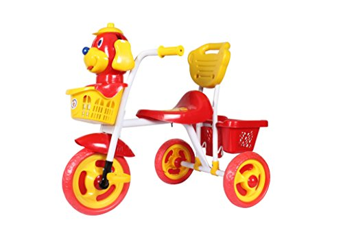 HLX-NMC KIDS SCOOBY PUPPY TRICYCLE RED/YELLOW  available at amazon for Rs.1299