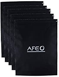 AFEO Black Non-Woven Fabric Shoe Bag, Pack of 5