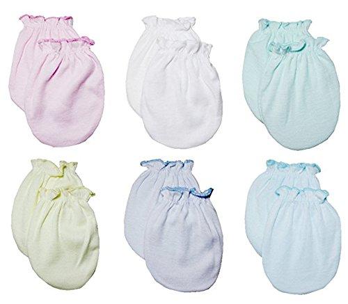 Lucky Lucky Baby ragazze dei guanti, no scratch Mittens 100% cotone 6paio