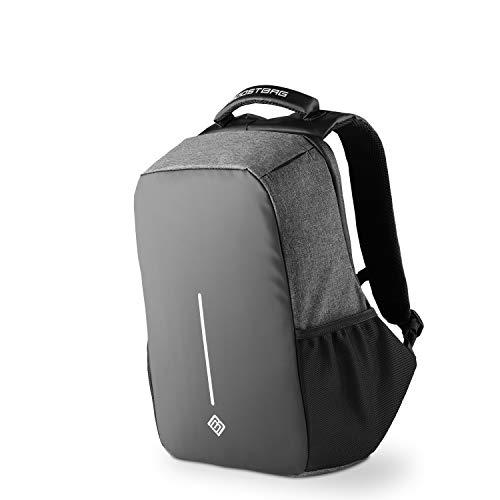 """BoostBag XL Anti Theft Backpack - Boostboxx Anti Diebstahl Rucksack mit Fächern für Reisepass, Kreditkarte mit RFID Schutz, 17\"""" Laptop/Notebook, Ipad, Tablet, Handy usw. mit TSA Schloss und USB"""