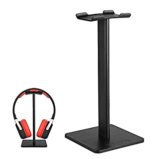 Auledio Headphone Stand, Universal Aluminum Headphone Holder Gaming Headset Display Hanger for Desk Organizer - Black