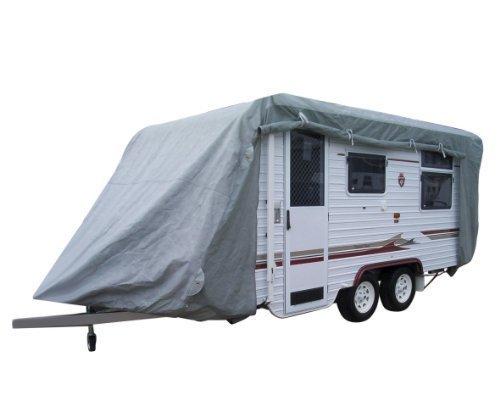 Preisvergleich Produktbild Caravan Cover 4-lagig Abdeckgarage Wohnwagen m. Vordach Gr. 1 - 4, 60 m