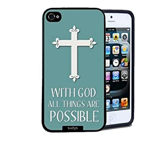 Shawnex Shawnex Christian Cross Quote ThinShell Case Protective iPhone 5 Case iPhone 5S Case