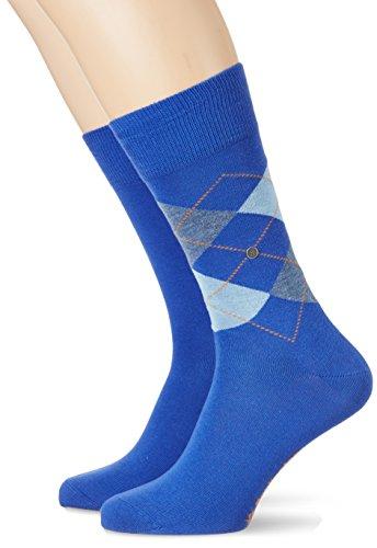 Burlington Herren Socken Everyday Mix Doppelpack, 2er Pack, Mehrfarbig (Deep Blue 6046), 40/46