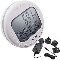 Calidad de aire interior de la sala de trabajo IAQ Humedad de la temperatura RH Medidor de dióxido de carbono CO2 Medidores Monitor con sensor infrarrojo no dispersivo (NDIR) sensor 2 límite de alarma