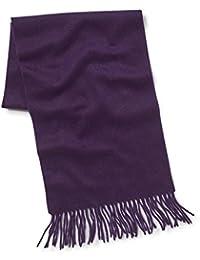 Savile Row Men's Purple Cashmere Scarf in Gift Box