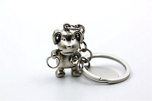MeiMei Die Taste Für Die Chinesischen Sternzeichen Serie Tierzeichen Hund Metall, Matt (Chinesisch-taste)