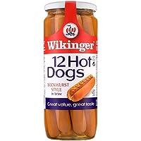 Wikinger 12 perros calientes estilo Bockwurst en 720 g de salmuera (Pack de 6 x 12s)