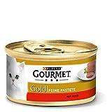 Purina GOURMET Gold Feine Pastete, hochwertiges Katzennassfutter, Tiernahrung, zarter Genuss, für anspruchsvolle Katzen, 12er Pack (12 x 85 g...