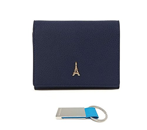 womens-compact-small-wallet-with-zip-coin-pocket-purse-navy