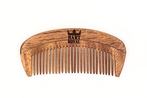 Bart Royal Bartkamm, Taschenkamm, antistatischer Holzkamm aus Zedernholz, für einen royalen und gepflegten Bart