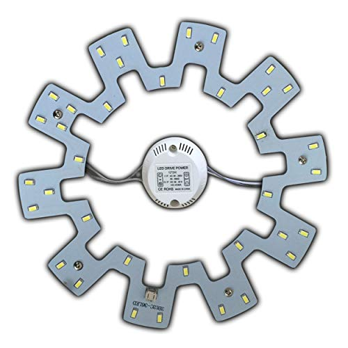 LED Modul 18 Watt tageslichtweiß - Umbau Set für Deckenleuchte Ringlampe Deckenleuchte Rundlampe Röhrenlampe G10q