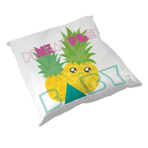 Coussin Décoration Ananas Pineapple Baby Chibi Kawaii by Fluffy Chamalow - Fabriqué en France - Chamalow Shop