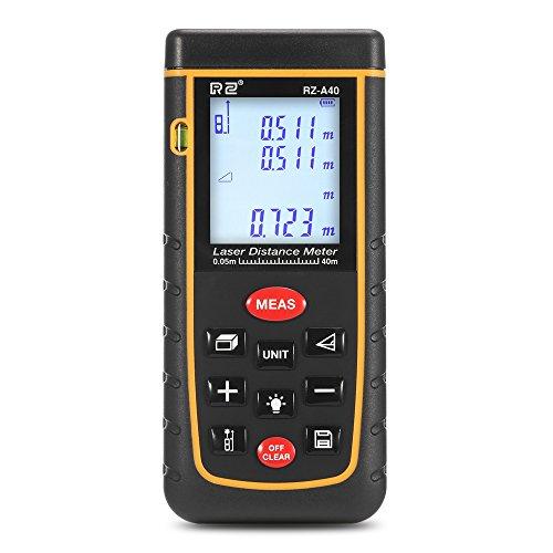 0,05~40m- Laser Entfernungsmesser InLife- LCD Display mit digital Distanzmessgerät| IP54 wasserdicht | Messung von Distanz, Flächen, Volumen | Pythagoras (RZ-A40)