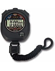 Longra Cronómetro digital LCD resistente al agua Cronómetro Reloj de alarma de alarma deportiva