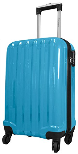Miami Blu XL CARBONIO/ABS policarbonato Custodia Trolley Valigia Rigida da bowatex