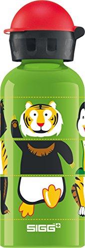 SIGG Zoo Twister, Kinder Trinkflasche, 0.4 L, Auslaufsicher, BPA Frei, Aluminium, Grün