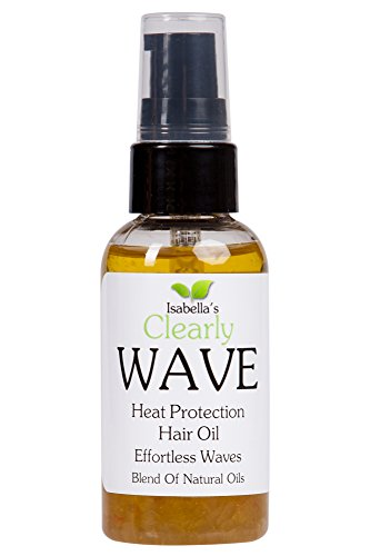 Kenra Moisturizing Conditioner (Isabella's Clearly WAVE, Best High Density Thermal Protection. Anti Frizz Beach Hair Curl Define Oil. Protect: Iron, Wand, Solar Heat, Prevent Split Ends & Breakage. Jojoba, Jasmine, Rosemary, 2 Oz)