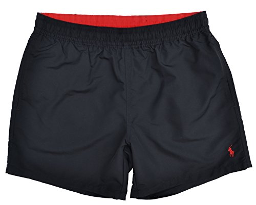 Ralph Lauren, Hawaiianische Boxer-/Badeshorts Gr. XXL, schwarz (Stretch-tülle)