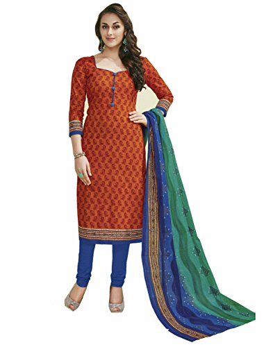 Miraan Women's Cotton Dress Material (SG1833_Multicoloured_One Size)