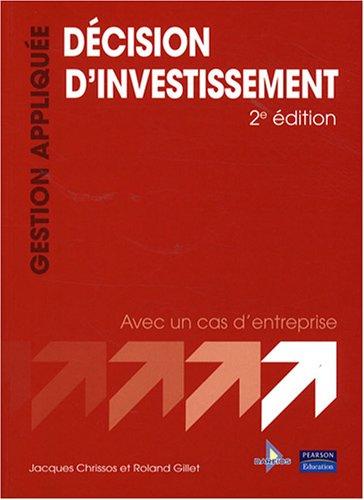 Décision d'investissement 2ème Ed.
