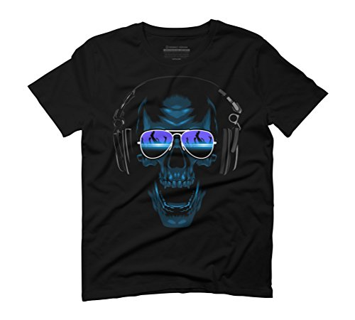 Dj Skull Men's Graphic T-Shirt - Design By Humans Black