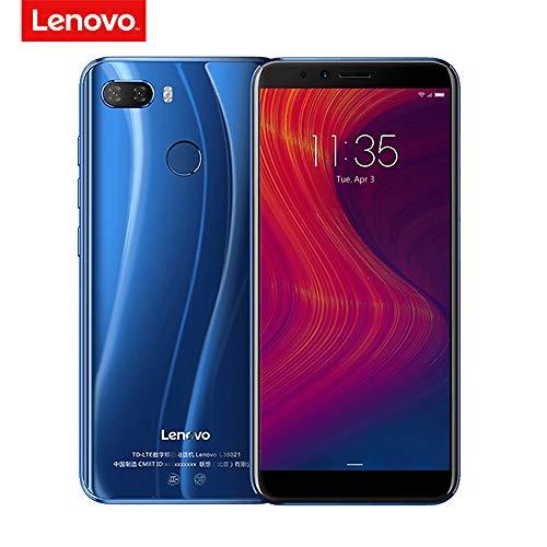 Lenovo K5 Play 4G Mobiltelefon Gesichts-ID 5,7 Zoll HD + 18: 9 Anzeige Löwenmaul MSM8937 Octa-Kern 3 GB + 32 GB 13MP + 2MP Hinten 8MP Vordere Kamera 3000mAh Fingerabdruck Anerkennung (Blau)