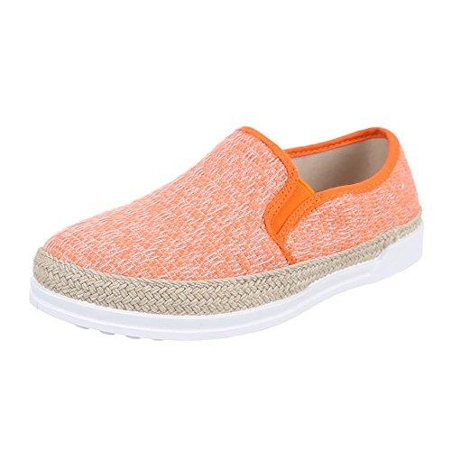 Ital-Design , mocassins femme Orange - Orange