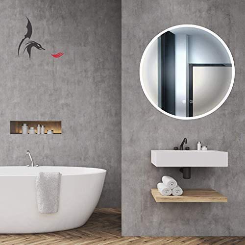 HOKO® Rer LED Bad Spiegel Freiburg 80cm mit ANTIBESCHLAG SPIEGELHEIZUNG außen LED Bild 2*