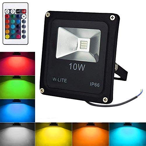 Foco exterior RGB de decoración Impermeable, Proyector Decorativo, foco de fiesta regulable,...