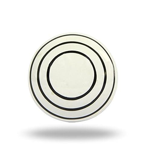 Poignée Michele en céramique Blanc avec des rayures noires de cuisine Cabinet Porte Placard Dressser Armoire et tiroir par Trinca-ferro