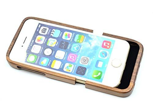 Holzsammlung® iPhone SE / iPhone 5S / iPhone 5 Holzhülle - Walnuss - NatürlicheHandgemachteBambus / Holz Schutzhülle für Ihr Smartphone Walnuss