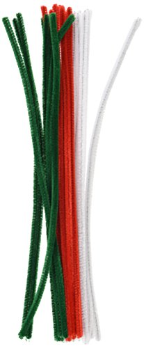 tional 6mm Chenille Vorbau–Festive Farben (25Stück) (Chenille-vorbau)