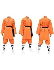 Shaolin Anzug, Baumwolle orange