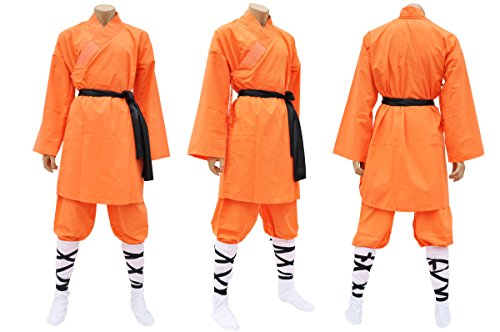 Shaolin-Anzug, Baumwolle, orange Large / X-Large Orange