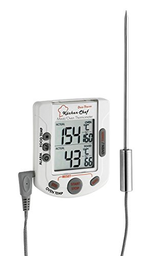 TFA Digitales Grill-/Ofenthermometer (inkl Batterie) weiß 141503