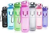 Migliore Bottiglia di Acqua - 500ml - Perfetto Bottiglia Sportivo per la Gym, Corsa, Fitness, Yoga, Camping, Bicicletta, Viaggio & Privo di BPA, BPS, ftalati & Die sano Art bevanda & Ideale Sport Bottiglia Acqua &