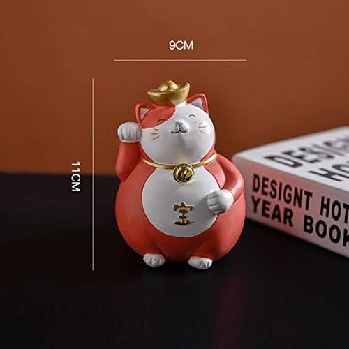 DIAOSUJIA Escultura,Rojo Japonés Figurilla Creativo