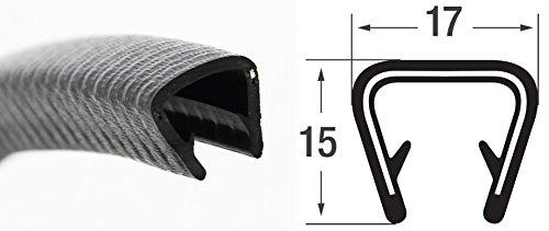 KS9-12S Kantenschutzprofil von SMI-Kantenschutzprofi - PVC Gummi Klemmprofil mit Stahleinlage - Kantenschutz - Schwarz - einfache Montage, selbstklemmend ohne Kleber Klemmbereich 9-12 mm (10 m)