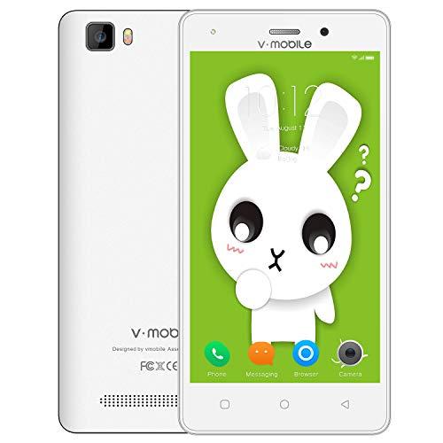 Teléfono Móvil,V Mobile A10 Smartphone de 5.0 Pulgadas 8GB ROM/1GB RAM 5MP Cámara Doble Sim 2800mAh Batería Android...