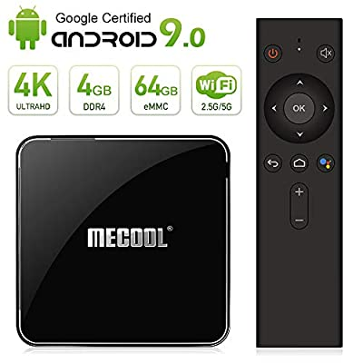 Mecool KM3 TV BOX Android 9.0 4K TV BOX/ Voice remote/DDR4/4GB/64GB Google Certified media player/2.4G and 5G wifi Supported