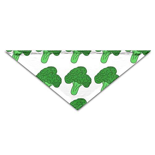 Broccoli Gemüse Hund Bandanas Schals Dreieck Lätzchen Schals Soft Basic Dogs Halstuch Katze Halsbänder ()