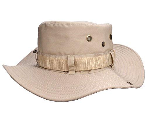 Beileer stylische Sun Hat UV-Schutz Outdoor Bucket Hat für Outdoor Angeln Camping Radfahren Jagd Golf Wandern (Beige) (Weg Verstellbarer Hut)