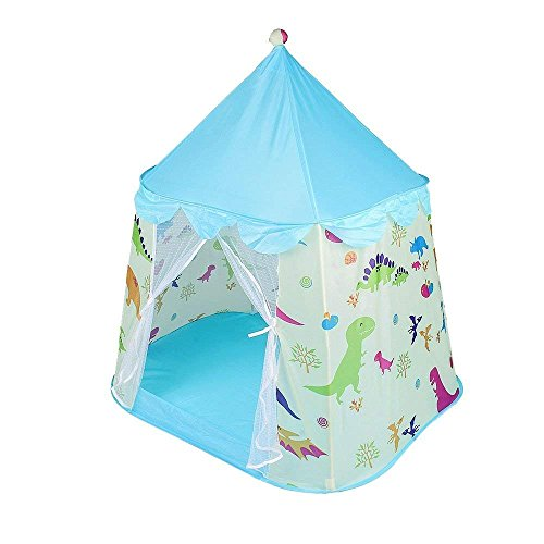JKsmart Kids Playhouse Castle Tent Toddler Children Play Tent Dinosaur Pop-up Girls Boys Tent with A Carrying Bag for Indoor Outdoor Use