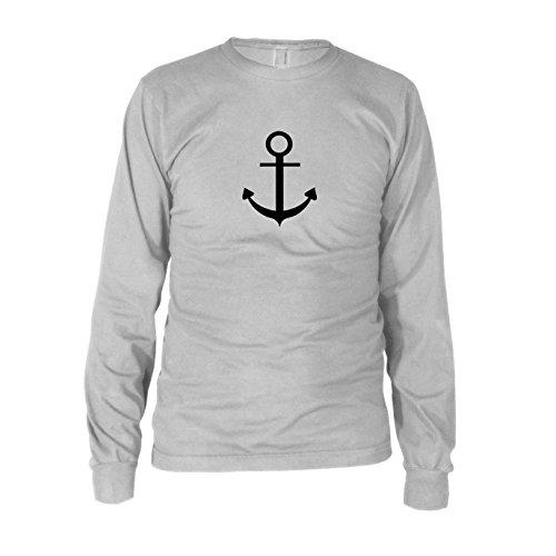 Anker - Herren Langarm T-Shirt T-Shirt Weiß