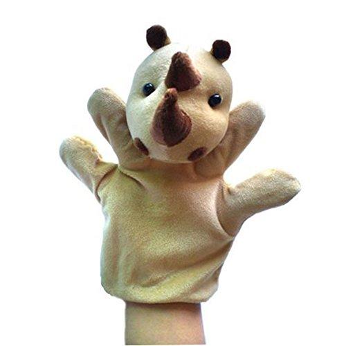 Lindo del rinoceronte del niño felpa marionetas de mano